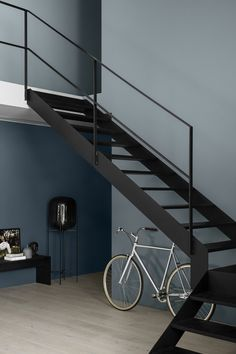 The new Jotun Lady colors are here, and the new chart is called Rhythm of Life. Because life at home has its own pulse, a rhythm that effects the way we live, choices we take and how we see the world. Jotun Lady, Industrial House, Vintage Industrial, Industrial Style, Staircase Design, Staircase Ideas, Color Of Life, Architecture, Wall Colors