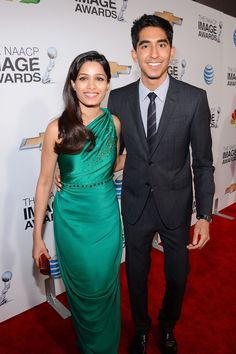 Freida Pinto And Dev Patel At The NAACP Image Awards