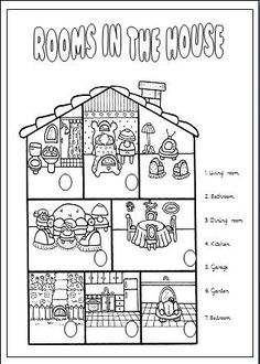... : Rooms in the house on Pinterest | Flashcard, House and Worksheets