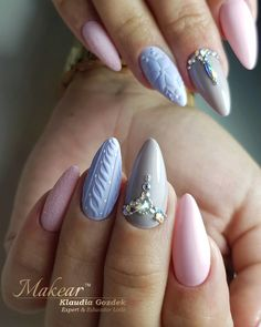 Fun Nails, Nice Nails, Nagel Gel, Winter Nails, Christmas Nails, Nail Designs, Hair Beauty, Nail Art, Cosmetics