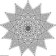 Stress Coloring Books for Adults Unique these Printable Mandala and Abstract Coloring Pages Relieve Stress and Help You Meditate Geometric Coloring Pages, Pattern Coloring Pages, Printable Adult Coloring Pages, Flower Coloring Pages, Mandala Coloring Pages, Coloring Book Pages, Coloring Pages For Kids, Coloring Sheets, Zentangles