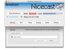 Nicecast v1.11.11 MAC OSX P2P | 06.10.2016 | 9.05 MB Broadcast music right from your Mac! With Nicecast, you can easily create your own internet radio sta