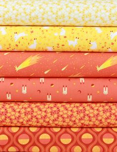 """Felice Regina for Windham Fabrics, Luna Sol, Sunrise 6 Total  Each 1/2 Yard measures: ~18"""" x 44/45""""  You will receive a 1/2 yard of each of the following:  Moon Blossom Glow Moonlight Meadow Sunspot Star Jumper Flare Lepus Flare Moon Blossom Flare Lunar Tide Flare  Fiber Content: 100% Cotton  If you would like to have 1 full yard of each, please enter 2 in the Qty Box.  Yardage is cut in one continuous piece when possible.  Hoverover image for a larger, better view.  Care Instructions:  To…"""