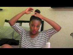 Natural Hair Faux Bun for Blown out Hair - Part 1