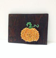 Pumpkin Nail and String Art Fall Halloween