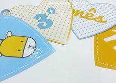 Kit festa personalizado para o mesversário do seu bebê. Tema girafa. Kit de mesversário para meninos. Itens prontos para personalizar sua festa.