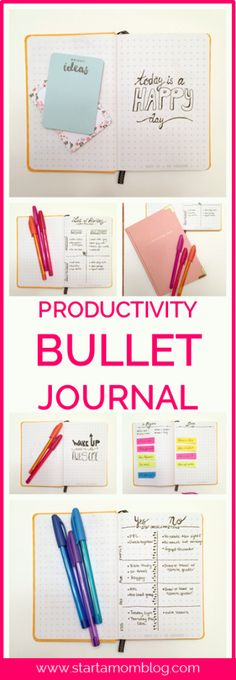Productivity Bullet Journal - Love these examples of how to use a bullet journal to be more productive! Super cute and easy to do!