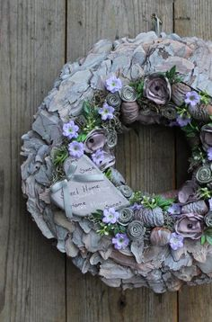 Wreath Crafts, Burlap Wreath, Topiary, Summer Beach, Wreaths, Pure Products, Purple, Spring, Outdoor