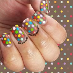 """My Manicure: Gone Dotty  Some might say I'm Little Miss Dot, For I love everything bearing a spot, By this I don't mean the angst of acne, But things nice…"""