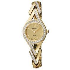 Ladies' Seiko Solar Crystal Gold-Tone Watch - Item SUP176 | REEDS Jewelers