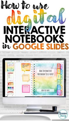If you need assistance on how to edit and/or utilize Digital Interactive Notebooks in Google Slides for your classroom, you have come to the right place! In these videos, I will be referencing the Editable Digital Interactive Notebook Templates in this post. This digital Google Slides resource provides editable Interactive Notebook Templates that you can create for your students. It is designed to be used for ALL grade levels and subjects. Learning Resources, Teaching Tools, Teacher Resources, Teacher Blogs, Teacher Planner Free, Classroom Resources, Teaching Technology, Educational Technology, Instructional Technology