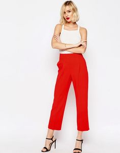 Image 1 of ASOS Occasion High Waist Tailored Peg Trouser Co-ord