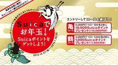 Suicaでお年玉!キャンペーン キャンペーン期間2013年12月27日(金)~2014年1月26日(日)