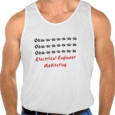 Electrical Engineer Meditating Tanktops Tank Tops