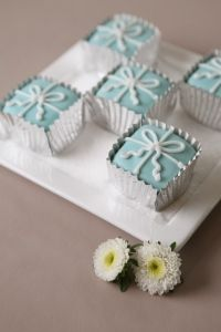 Perfectly Wrapped  Tiffany Inspired Petit Fours