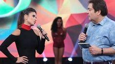 """A artistaestava no programa """"Domingão do Faustão"""", da TV Globo [no último…"""