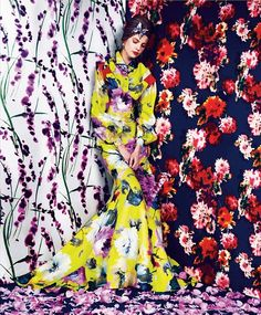 "Elisabeth Erm in ""Prints of the Season"" by Erik Madigan Heck for Harper's Bazaar, March 2014"