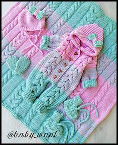 Baby Crochet Sets Yarns 54 Ideas For 2019 Loom Knitting Projects, Knitting For Kids, Baby Knitting Patterns, Baby Patterns, Crochet Patterns, Knitted Baby Clothes, Knitted Romper, Lidia Crochet Tricot, Knit Crochet