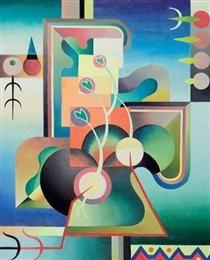 Modality Series, Spring Awakening 1937 by Jock Macdonald. Art Gallery Of Alberta, Winnipeg Art Gallery, Vancouver Art Gallery, Pop Art, Cubism Art, Surrealism Painting, Spring Awakening, Canadian Art, Art Database
