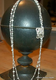 Vintage Antique Flapper Necklace by MADEINTHEDEEPSOUTH on Etsy, $178.00
