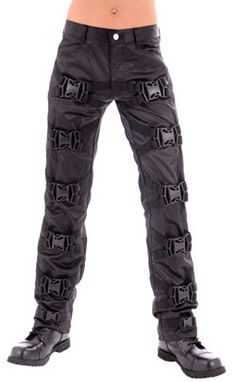 Oomph Strait Pants D.S. Black - Mens gothic, industrial and cyber pants.