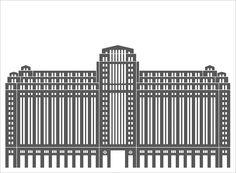 Symmetrical Architectural Illustrations