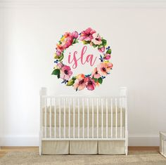Floral Wreath Decal