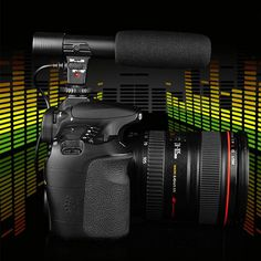 Digital Video Camera Professional Studio/Stereo Shotgun Recording 3.5mm Microphone/Microphone  for Nikon Canon Sony DSLR DV