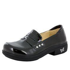 Taylor Black Waxy Shoe - Alegria Shoes - 1