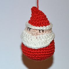 santa tree ornament by Diana Prince, via Flickr