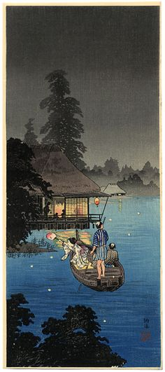 """Hunting Fireflies in a Cool Breeze"" by Shotei, Takahashi"
