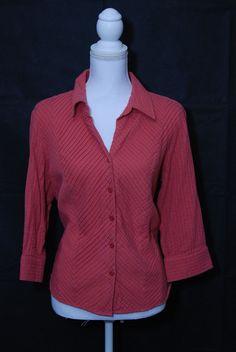 Coldwater Creek XL Button Down Ruffle Blouse EUC Must See X-Large #ColdwaterCreek #ButtonDownShirt