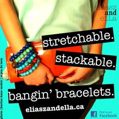 Eliasz and Ella is a local, handmade jewelry studio inspired by modern fashion elements and design. Modern Fashion, Handmade Jewelry, Jewelry Making, Treats, Bracelets, How To Make, Style, Sweet Like Candy, Swag