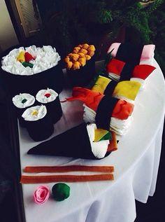 Sushi diaper cake!
