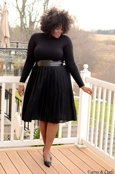 All black outfit- #Plussize fashion inspiration