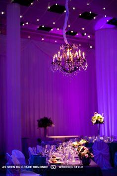 reception tables purple lighting at denver ctr for performing arts denver colorado #GOWSRedesign