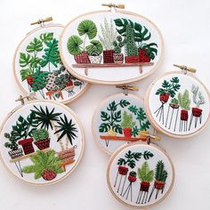 Sarah K. BenningSarah K. Benning - Meticulously Embroidered Houseplants