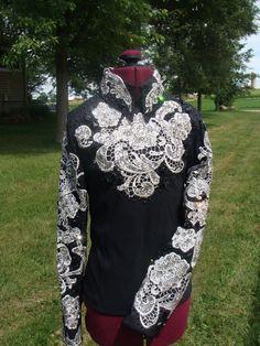 Sittin Pretty Show Clothing on FB!  Custom Western Show Clothing.  Hand made lace overlay; Horsemanship 2013