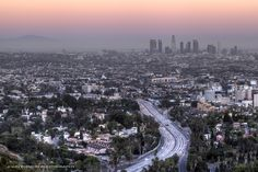 City at Dusk  Dusk in Los Angeles, a photo by John Chimon on Flickr.