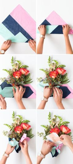 We're shopping for a cause with Mon Amie and making some oh so pretty DIY fabric wrapped bouquets for gifting this holiday! We're shopping for a cause with Mon Amie and making some oh so pretty DIY fabric wrapped bouquets for gifting this holiday! Flower Bouquet Diy, Bouquet Wrap, Flower Diy, Floral Bouquets, Flower Wrap, Cactus Flower, How To Wrap Flowers, Diy Flowers, Exotic Flowers
