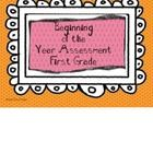 This is a first grade assessment packet to use at the beginning of the school year. Files Include:Cover PageIntroductionCover Page for Individu...