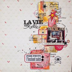 #papercraft #scrapbook #layout Denim tampons: toi & moi