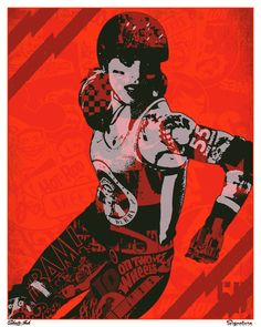 I continue to have a huge crush on Suzy Hotrod of Gotham Girls Roller Derby. (It's okay, she knows it.)