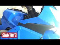 SIAMTOYS - มอเตอร์ไซค์เด็ก LNM906 ทรงBMW (สีน้ำเงิน) Line id : @siamtoys...