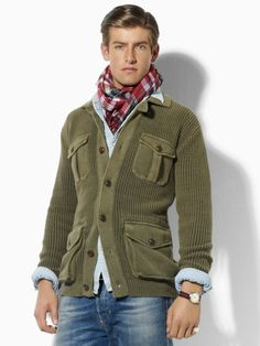 Polo Ralph Lauren cardi. I'm starting to wonder what I love looking at more: the clothes or the men wearing them.