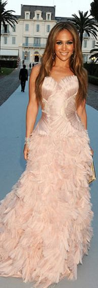 Jennifer Lopez in Roberto Cavalli Couture at the amfAR's Cinema Against AIDS Gala, May 2010
