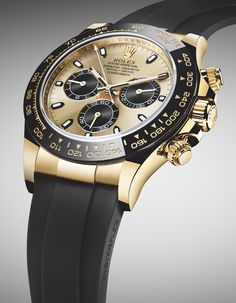 Article LIVE now! New ROLEX Cosmograph Daytona Watches In Gold With Oysterflex Rubber Strap & Ceramic Bezel For 2017. Discover the new models and look out for all Rolex novelties coming soon to aBlogtoWatch.com!