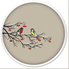 Winter Birds Cross Stitch Pattern Instant Download by WellStitches
