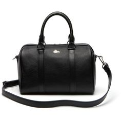 6154db5b1db403 Lacoste Rene Medium Boston Bag In Leather (935 PEN) ❤ liked on Polyvore  featuring