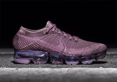 """Nike has several colorways of the Vapormax with tinted Air in the works, like this upcoming """"Violet Dust"""" colorway made exclusively for women. Two tones of purple blend together on this stylish Flyknit x Air Max running sneaker, a brand … Continue reading →"""